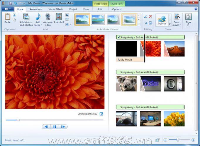 cập nhật, Microsoft, Movie Maker, Photo Gallery, tính năng mới